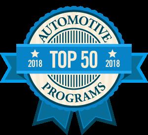Top 50 Auto Mechanic Programs Badge