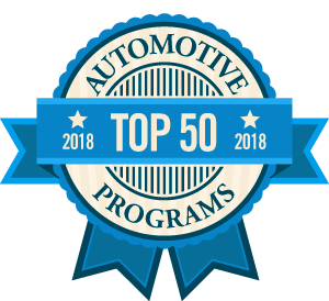Top 50 Auto Mechanic Programs Badge